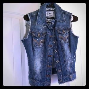 Guess Jackets & Coats - Guess Denim Vest